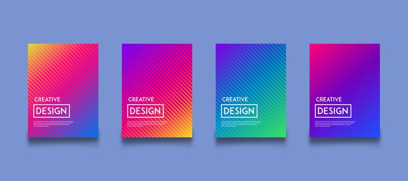 modern gradient color background design template set