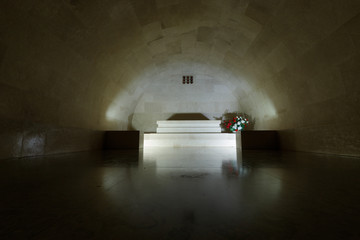 tunnel, light, dark, architecture, interior, underground, building, wall, old, corridor, hall, door, stone, room, indoors, exit, empty, floor, montenegro, lovcen, tomb