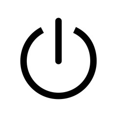 Power icon vector icon. Simple element illustration. Power symbol design. Can be used for web and mobile.