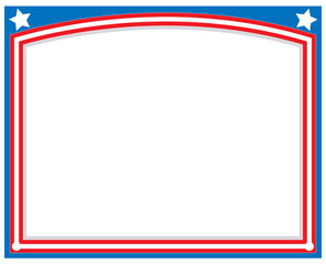 American abstract flag symbolic frame with empty space for your text.