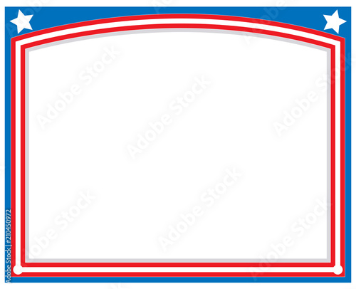 American abstract flag symbolic frame with empty space for your text ...