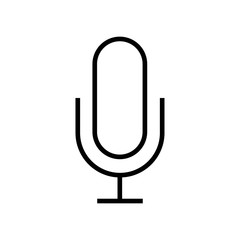 Microphone icon vector icon. Simple element illustration. Microphone symbol design. Can be used for web and mobile.