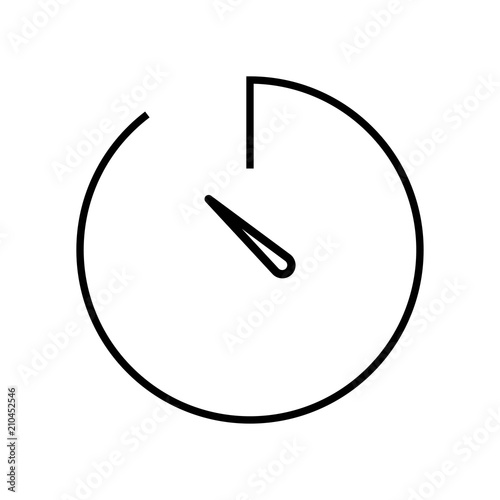 Stopwatch Icon Vector Icon Simple Element Illustration Stopwatch