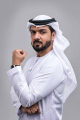 Arabic handsome man studio portraits