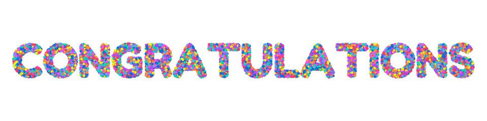 Congratulations on the confetti. Illustration