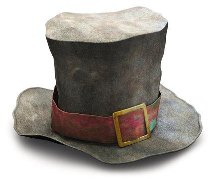 Old vintage crumpled beggar hat