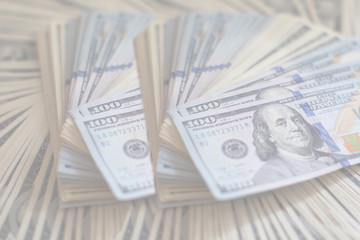 A lot of dollars. A bundle of money. The concept of wealth. Dollars