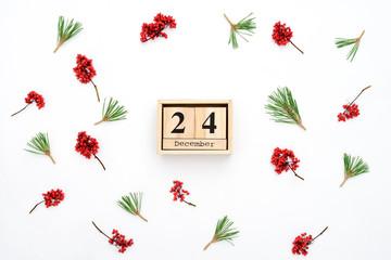 Winter holidays  background, calendar concept