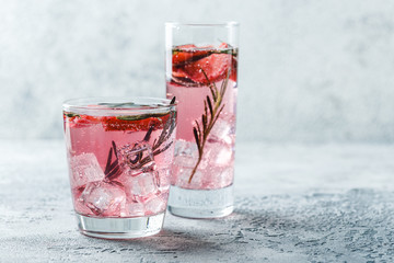 Strawberry and rosemary drink Wall mural