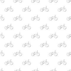 Bicycle background from line icon. Linear vector pattern