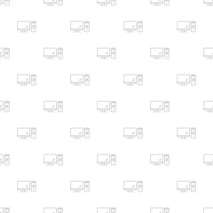 Computer background from line icon. Linear vector pattern