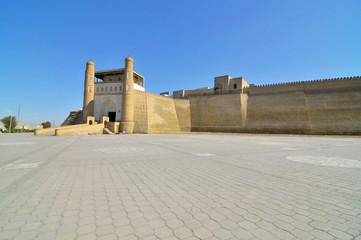 Foto auf Leinwand Befestigung The Ark of Bukhara fortress located in the city of Bukhara, Uzbekistan