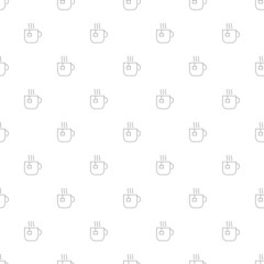 Tea background from line icon. Linear vector pattern