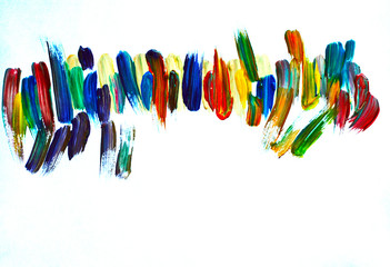 watercolor brush strokes, brush strokes gouache, abstraction
