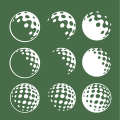 corporate identity golf ball iconic graphic golf balls