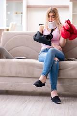 Woman injured during sport game