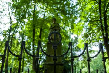 steue in park in Duesseldorf, Germany.