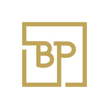 two letter logo line square