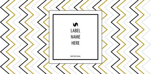Minimalistic modern label for bottle of liquid soap, spirit, wine, water or other. Random text example. Vector Illustration.