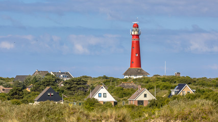 Fototapeten Leuchtturm Lighthouse village island