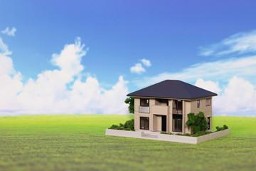 住宅と青空