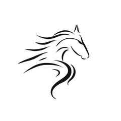 Horse Logo Design Template - Vector Illustration