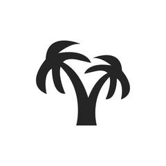 Palm tree icon illustration