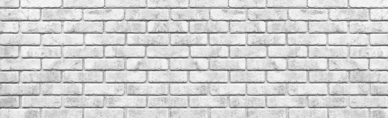 Panorama of White stone brick wall seamless background