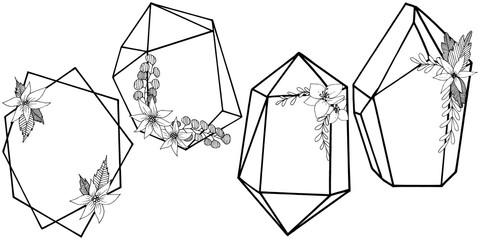 Vector diamond rock jewelry mineral.  Geometric quartz polygon crystal stone mosaic shape amethyst gem.