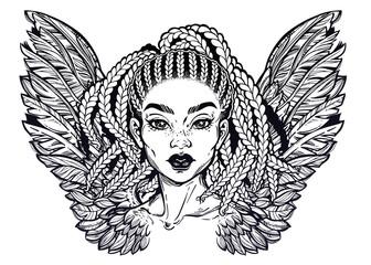 African American pretty girl.