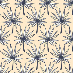 Tropical Leaves seamless pattern. Summer background
