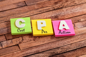 post-it acronym : CPA (cost per action)