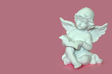 Angel reading a book