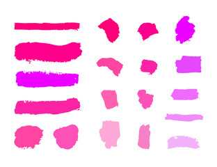 Vector Cosmetic Blank Samples, Set of Different Tones, Make Up Strokes on White Background.