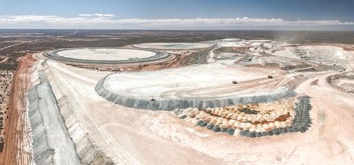 Australia Mining droneshot aerial panorama Wall mural