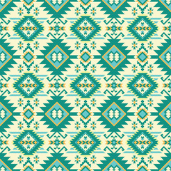 Native geometric art print. Ethnic seamless pattern.