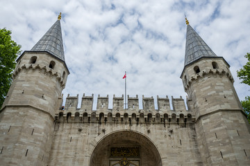 The Topkapi Palace in Istanbul, Turkey.