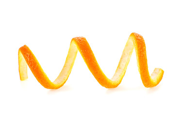Peel of orange, isolated on white background