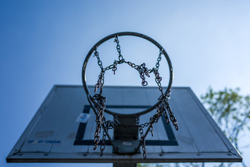 Basket Ball basket at Altengroden School in Wilhelmshaven, Germany.