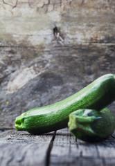 Zucchini on wood