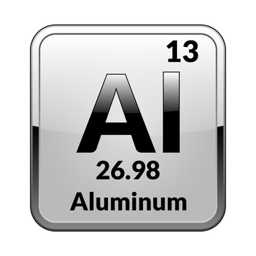 The periodic table element Aluminum.Vector.