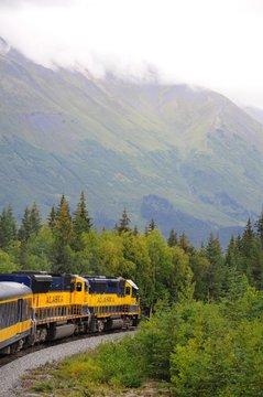 Scenic Alaska Railroad and sightseeing train
