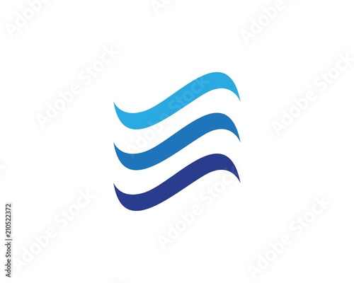 wave logos and symbols vector stock image and royalty free vector