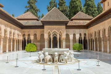 Patio de los Leones, Alhambra de Grenade