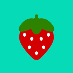 Strawberry icon, cartoon berry