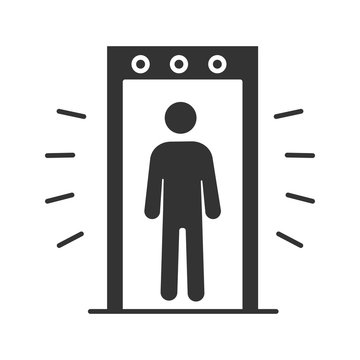 Signaling portal metal detector glyph icon