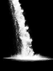 waterfall isolated on the black background - 210528727