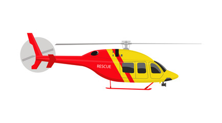 Helicopter rescue. Vector  illustration