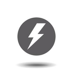 flash flat icon vector