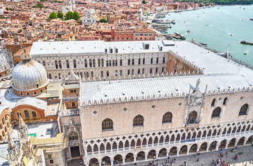 The Doge's Palace in Venice in Italy